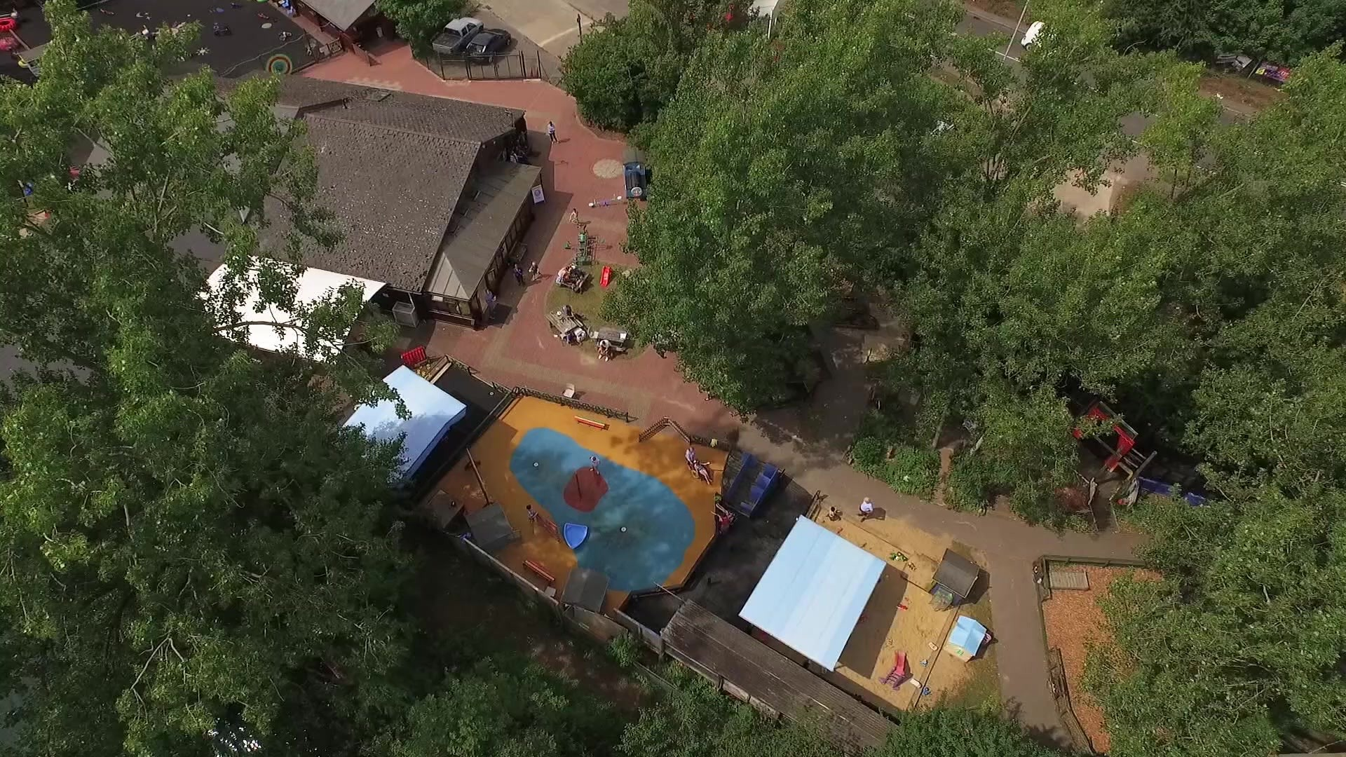 Aerial view of Thames Valley Adventure Playground